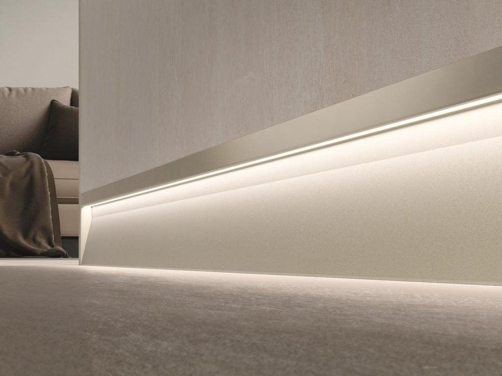 led aluminum skirting profile