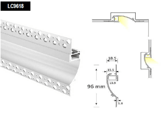 led skirting profile extrusion